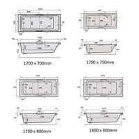 Carron Quantum Duo Double Ended Bath 1800 x 800mm.